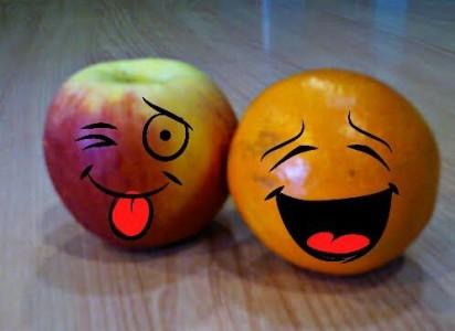 fruta sonriente